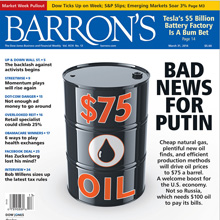 Barrons Cover: $75 Oil, Bad News for Putin