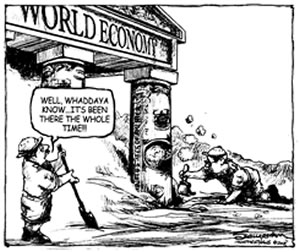 Cartoon: U.S. Dollar is Pillar of the World Economy