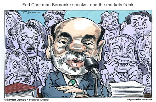 Fed Chairman Bernanke speaks…and the markets freak