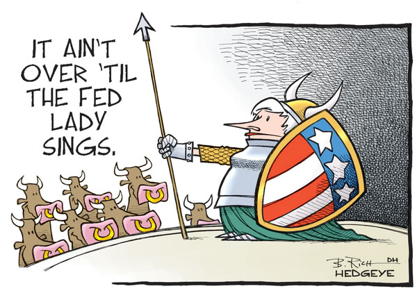 Cartoon: U.S. equity bull market continues until Yellen/Fed alter interest rates
