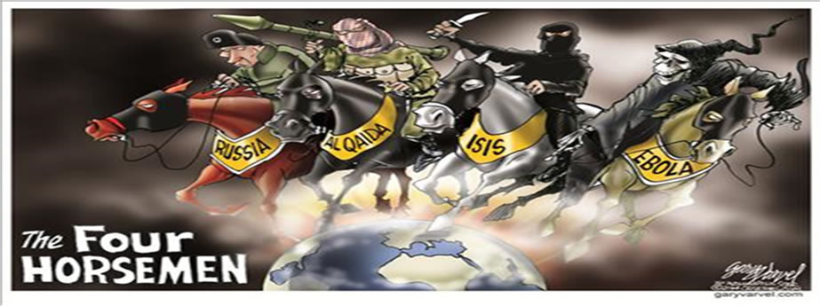 The four horsemen of economic bad news - Russia, Al Quaida, ISIS and Ebola