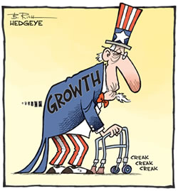cartoon-United States growth appears to be slowing